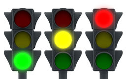 Three traffic light Stock Photo