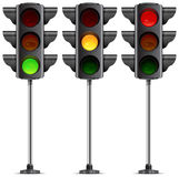 Three traffic lights Stock Photos