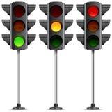 Three traffic lights Stock Photos