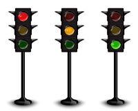 Three traffic lights Stock Photography