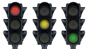 Three traffic lights Royalty Free Stock Photography