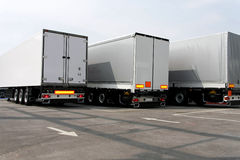 Three trailers Royalty Free Stock Images
