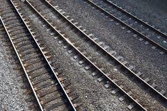 Three train tracks Stock Image