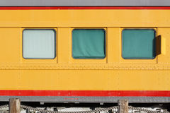 Three Train Windows. Three shaded train compartment windows in old locomotive Royalty Free Stock Photography