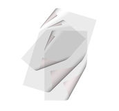 Three transparent pages Royalty Free Stock Image
