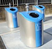 Three trash cans Stock Image