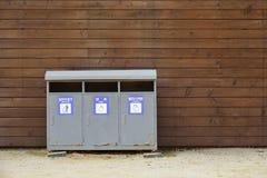 Three trash cnas Stock Image