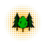 Three tree comics icon Royalty Free Stock Image