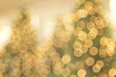 Three Tree Golden Holiday Bokeh Royalty Free Stock Image