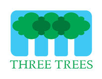 Three Trees. Environment conceptual illustration. Vector sign vector illustration