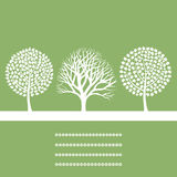 Three trees Royalty Free Stock Images