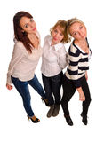 Three trendy female friends Stock Photos