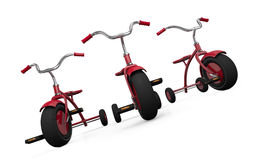 Three tricycles Stock Photos