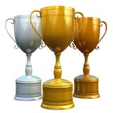 Three trophies Stock Image