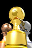 Three trophies (3D) Royalty Free Stock Images