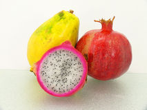 Three tropic fruits Stock Photo