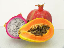 Three tropic fruits Royalty Free Stock Photos