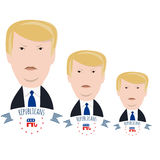 Three Trump candidate Royalty Free Stock Photos