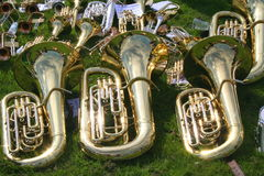 Three Tuba's Stock Image