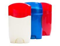 Three tube of deodorant. Royalty Free Stock Photos