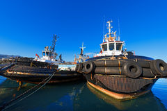 Three Tugboats in the Harbor Royalty Free Stock Photography