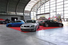 Three tuned cars: BMW 3, Subaru Impreza and Audi A3 Stock Images