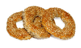 Three Turkish bagels Royalty Free Stock Photography