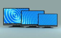 Three TV vector illustration