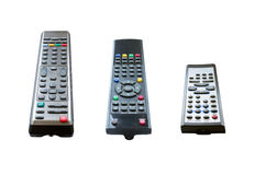 Three TV remotes Royalty Free Stock Images