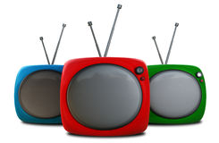 Three TVs Stock Photos