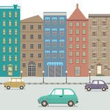 Three Type Of Cars In The City. Royalty Free Stock Photography
