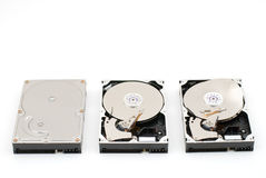 Three type hard disk Royalty Free Stock Photography