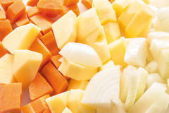 Three type of vegetable Stock Image