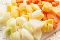 Three type of vegetable Stock Photos