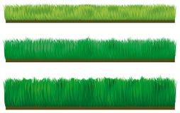 Three types of border grass stock illustration