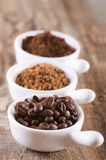 Three types of coffee Stock Images