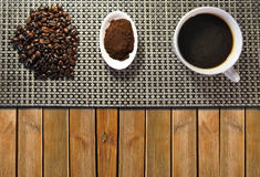 Three types of coffee Royalty Free Stock Images