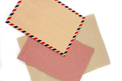 Three types of envelopes Royalty Free Stock Images