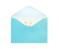 Three types of envelops isolated Royalty Free Stock Images