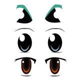Three types of eyes Royalty Free Stock Image