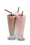 Three types of milkshake drink Royalty Free Stock Images