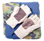 Three types of mittens, winter, warm Royalty Free Stock Image