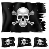 Three types of pirate flag Stock Photography