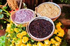 Three types of rice Royalty Free Stock Photos