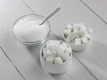 Three types of sugar Stock Photo