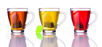 Three Types of Tea Royalty Free Stock Images