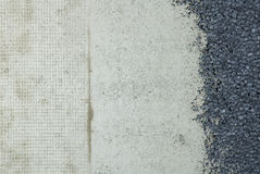 Three types wall texture. Stock Photography