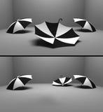 Three umbrellas Stock Photography