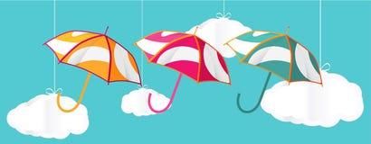 Three umbrella Royalty Free Stock Image