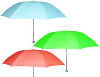 Three umbrella Royalty Free Stock Images